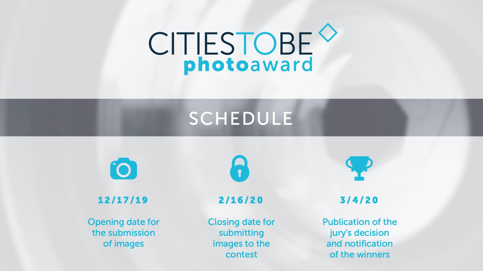 CitiesToBe Photo Award Schedule